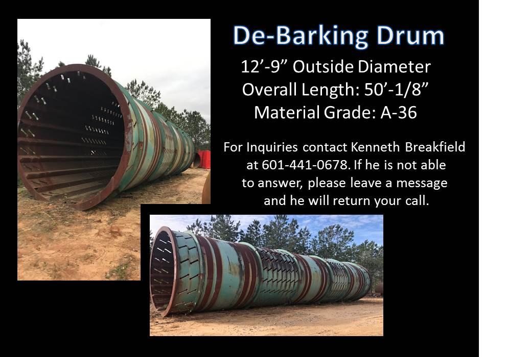 DE-BARKING DRUM